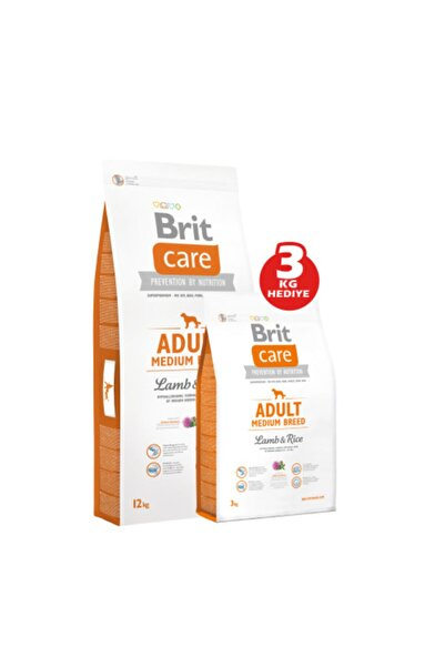 Brit Adult Medium Breed Lamb Rice 12 Kg ve Adult Medium Breed Lamb Rice 3 kg