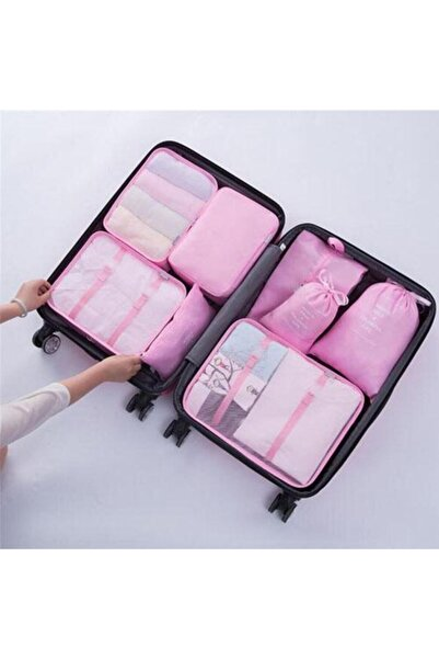 rennway Pembe Bavul İçi Düzenleyici Organizer 62lı Set