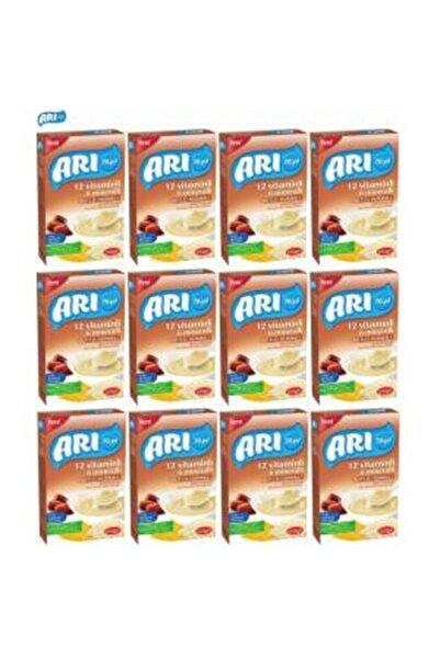 ARI 12 Vitaminli 6 Mineralli Hurmalı Pirinç Unu Bebek Maması 200 gr 12 li Kaşık Maması