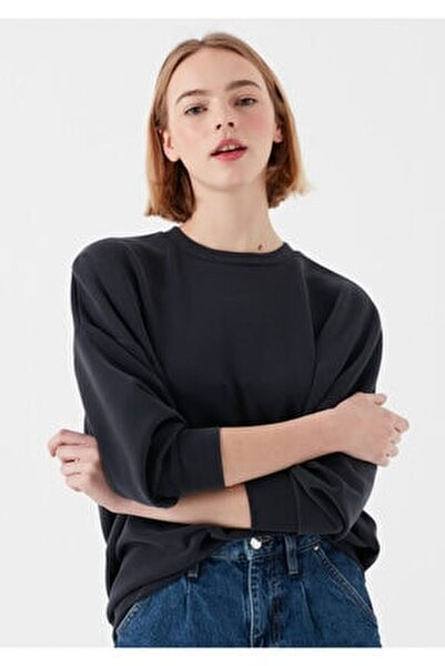 Kadın Siyah Modal Sweatshirt 168837-900