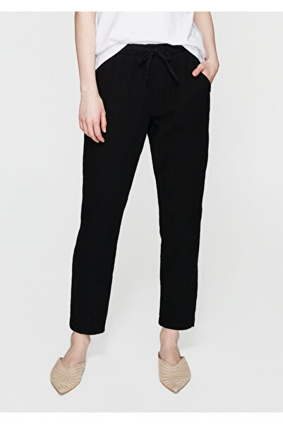 Mavi Kadın Beli Lastikli Siyah Pantolon 100954-900