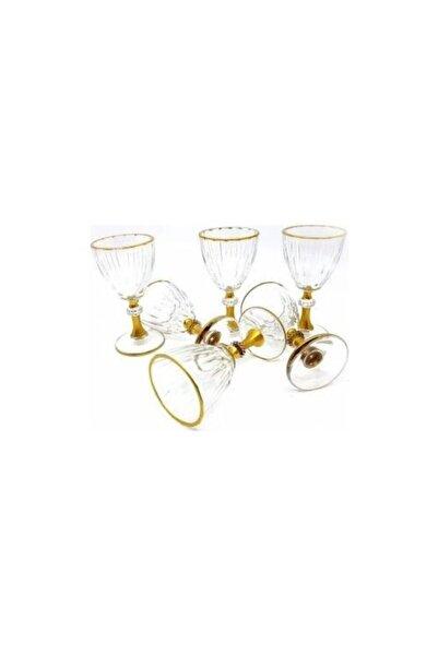 Paşabahçe Unisex Gold Diamond Kahve Yanı Su Bardağı 6 Adet