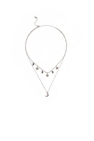 Mavi Kadın Gümüş Rengi Kolye 197413-24651