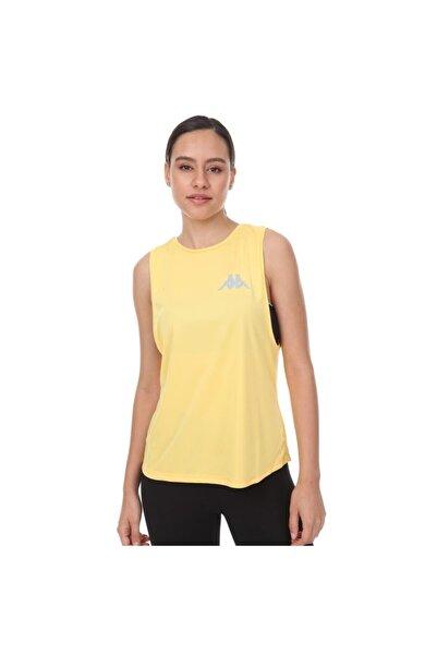 Kappa Kadın Sarı Spor T-Shirt