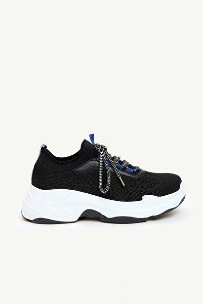 Yargıcı Kadın Siyah Örme Spor Ayakkabı 0KKAY4007X