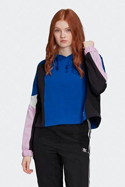 adidas Kadın Spor Sweatshirt - Cropped Hoodie - FM1751