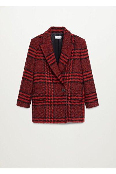 MANGO Woman Kadın Kırmızı Blazer Ceket