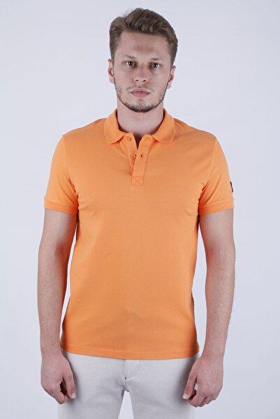 Canelia Erkek Oranj Likralı Pike Slimfit Polo Yaka T-shirt