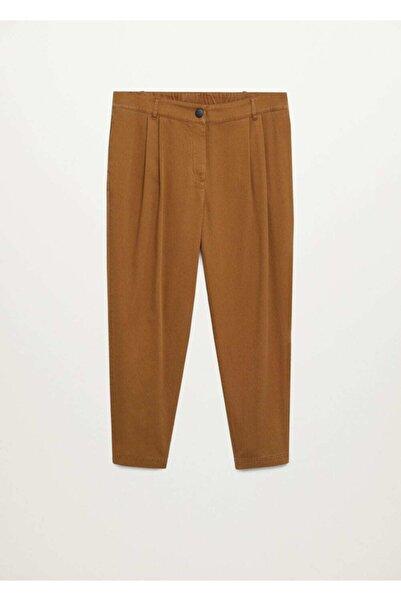 Violeta by MANGO Kadın Kahverengi Pantolon