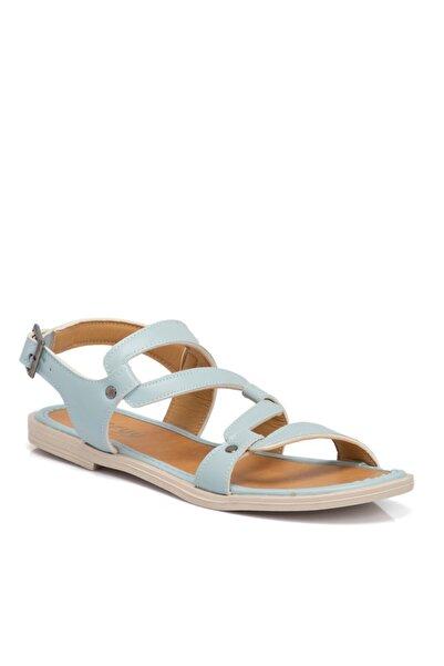 Tergan Kadın Mavi Vegan Sandalet 210143q1o