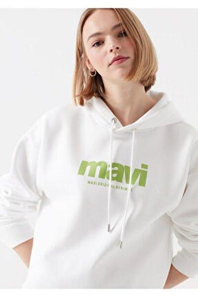 Kadın Beyaz Baskılı Sweatshirt 168334-620