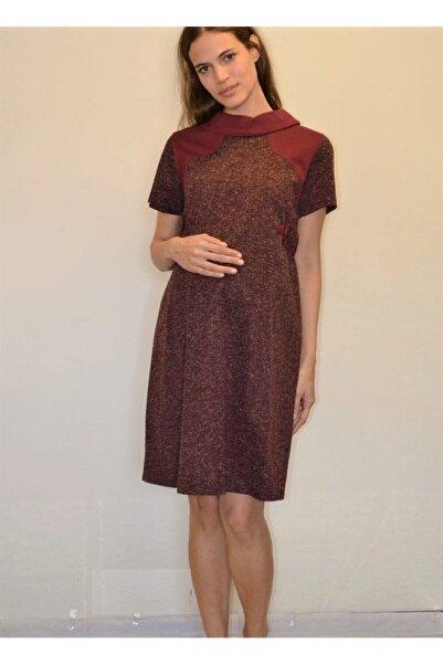 Entarim Kadın Bordo Kışlık Hamile Elbise
