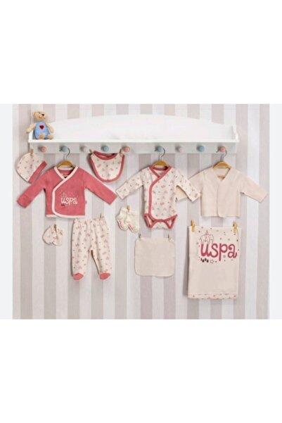 U.S. Polo Assn. Kids U.s.polo.assn Baby Kız Bebek 10'lu Yenidoğan Gül Kurusu Hastane Çıkış Seti