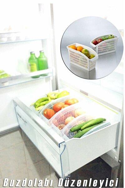 Kitch&Home 5 Adet Buzdolabı Sepeti Dolap Içi Düzenleyici Meyve Sebze Organizer