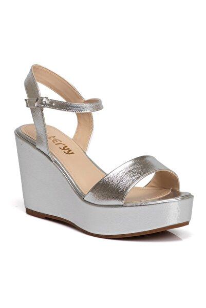 Tergan Kadın Gümüş Sandalet 210011o53
