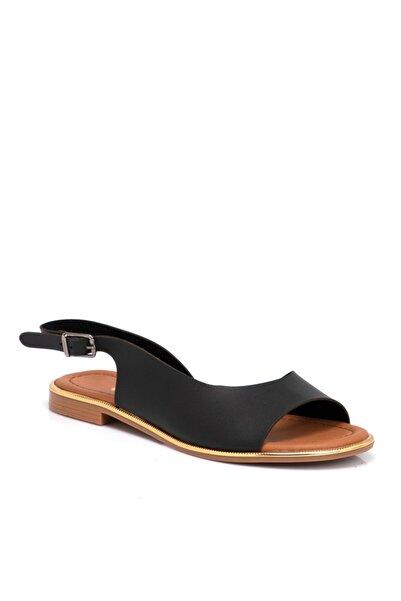 Tergan Kadın Siyah Vegan Sandalet 210025d62