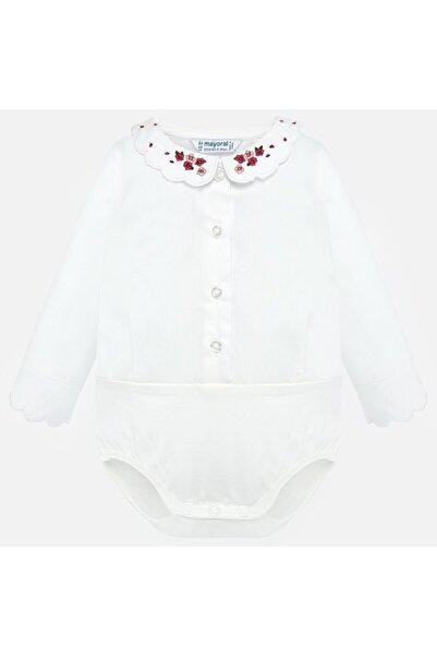 MAYORAL Kız Bebek Nakışlı Yakalı Body