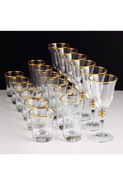 Paşabahçe Altın Kristal 18 Parça Sofra Takımı 2402