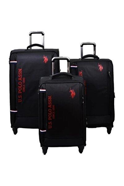 U.S. Polo Assn. U.s Polo Assn. 3'lü Valiz Seti Siyah Valiz & Bavul Unisex