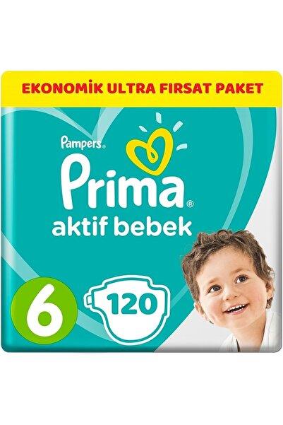 Prima Bebek Bezi Aktif Bebek 6 Beden 120 Adet Ekonomik Ultra Fırsat Paketi