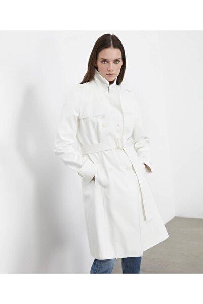 İpekyol Kadın Kırık Beyaz Trençkot