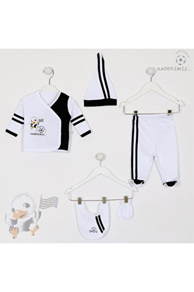 İmaj Kız Erkek Bebek Siyah Beyaz 5 Li Set