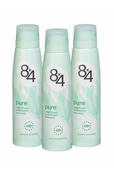 8x4 Pure 150 ml Deodorant x 3 Adet