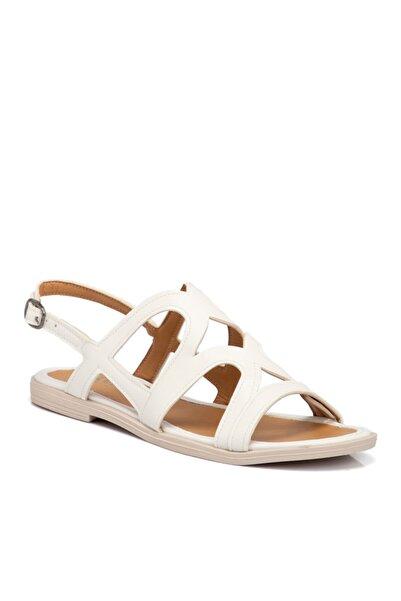 Tergan Kadın Beyaz Vegan Sandalet 210142q0y