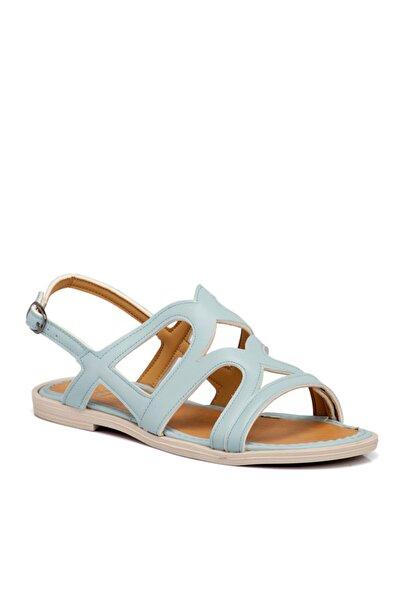 Tergan Kadın Mavi Vegan Sandalet