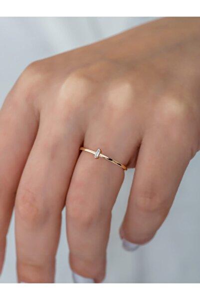 Taşbeyi jewellery Pırlanta Bagetli Minimal Yüzük