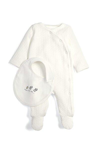 Mamas Papas Kız Erkek Bebek Textured All In One Wıth Bıb Zıbın