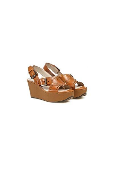 CLARKS Kadın Kahverengi Topuklu Sandalet