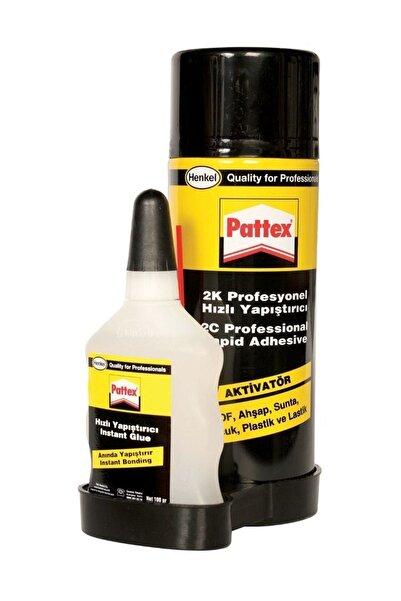 Henkel Pattex 2k Profesyonel Hızlı Yapıştırıcı 200ml Sprey+50ml Yapıştırıcı