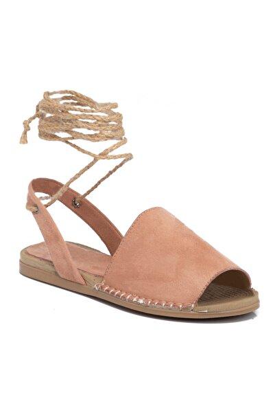 Tergan Kadın Pudra Vegan Sandalet 210113c63