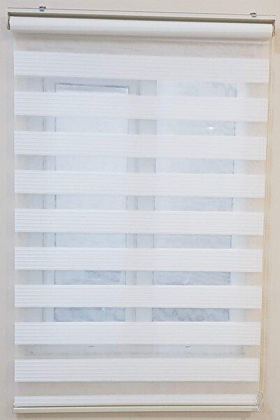 Net Perde Geniş Pliseli Ekru Kırık Beyaz Zebra Perde Ofis Ev Mutfak