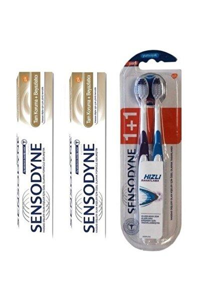 Sensodyne Tam Koruma Ve Beyazlatıcı Diş Macunu 50 Ml X 2 + Hızlı Rahatlama Yumuşak Diş Fırçası 1+1