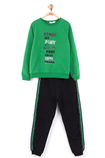 nk kids Kız Çocuk Yeşil Kışlık Sting Eşofman Takım