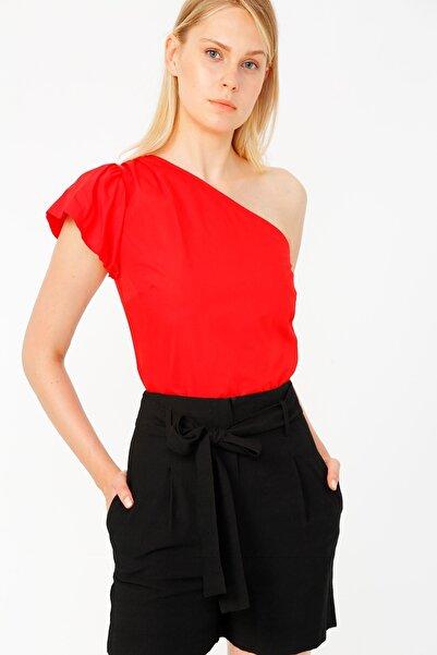 RANDOM Kadın Kırmızı Tek Kollu Bluz