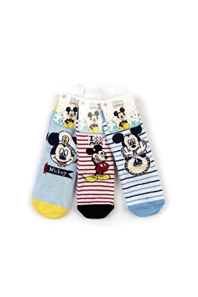 Mickey Mouse Erkek Çocuk Mavi Mickey 6 Lı Kaydırmaz Soket Çorap 17009