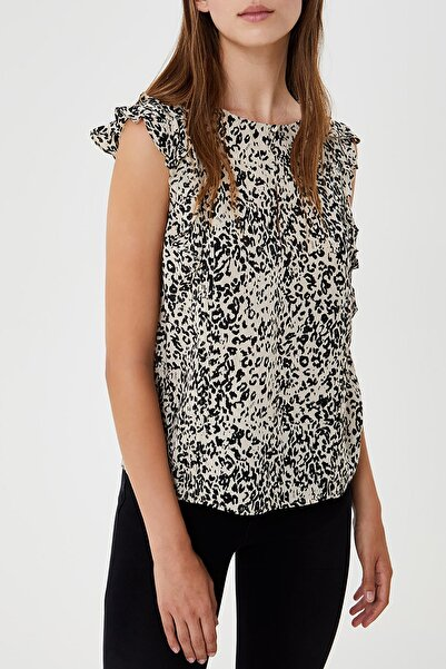 Liu Jo Kadın Ipek Leopar Desenli Bluz