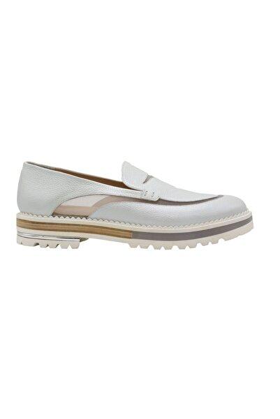ALBERTO GUARDIANI Kadın Beyaz Hakiki Deri Ayakkabı