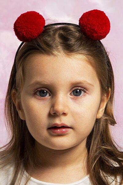 Baby Dora Kız Çocuk Kırmızı Pembe 2'li Ponpon Taç Seti