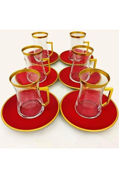 Paşabahçe 12 Parça Çay Seti Altın Yaldızlı Elvan