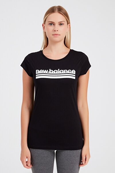New Balance Kadın T-Shirt - NB VOM TEE - V-WTT918-BK