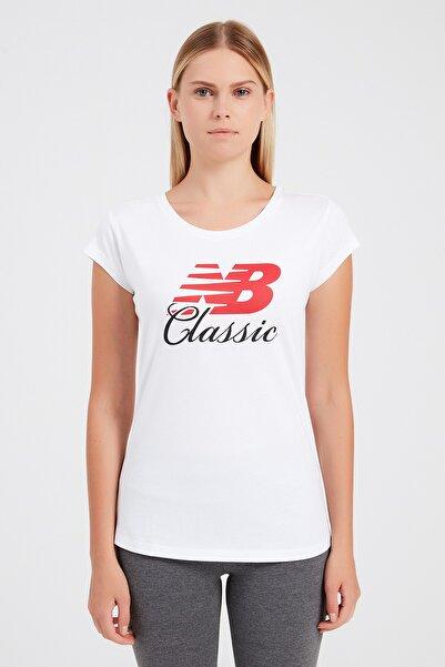 New Balance Wps001-wt Kadın T-shirt