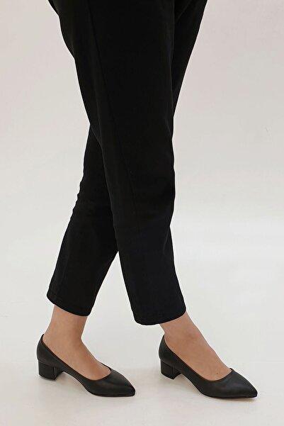 Marjin Kadın Siyah Apunte Klasik Topuklu Ayakkabı