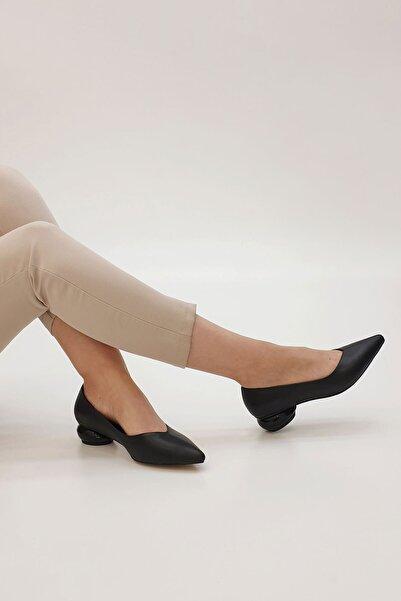 Marjin Kadın Siyah Evara Günlük Topuklu Ayakkabı