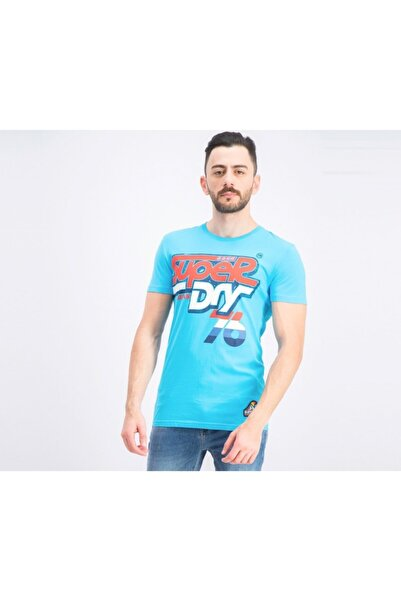 SUPERDRY Tshirt Men's Logo Graphic Mavi