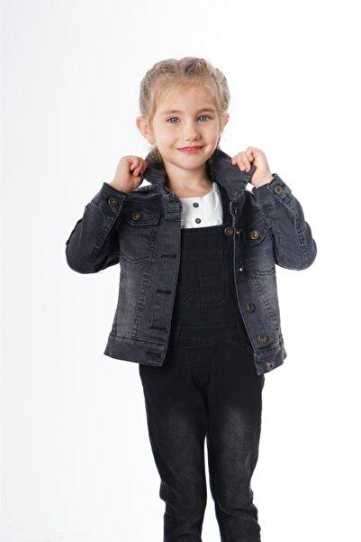 Varol Kids Kız Çocuk Gri Kot Ceket