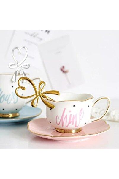 LOVYCO Altın Parlak Kalp Çay Kaşığı